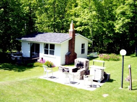 Cottage and communal fire pit