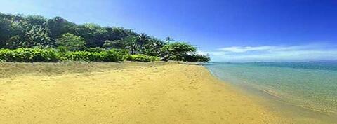Pristine Anini Beach a short walk down a magical trail