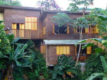Castara Cottage in its lush gardens