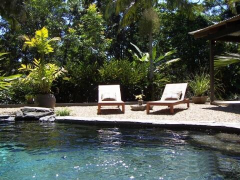 Private Salt Water plunge pool