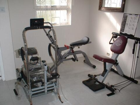 personal fitness gym in the villa
