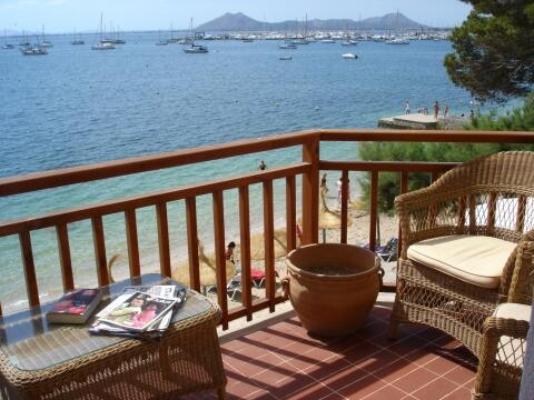 furnished terrace with views over the bay