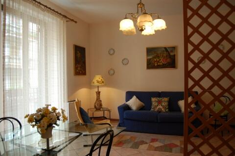 living room with a comfortable sofa bed and  cooking area (fully furnished with cooker, microwave oven, refrigerator, freezer and kitchenware). It is also provided with independent air-conditioned and heating, satellite TV.