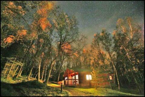 Ptarmigan Lodge at night