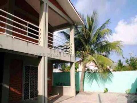 Front of beach villa.