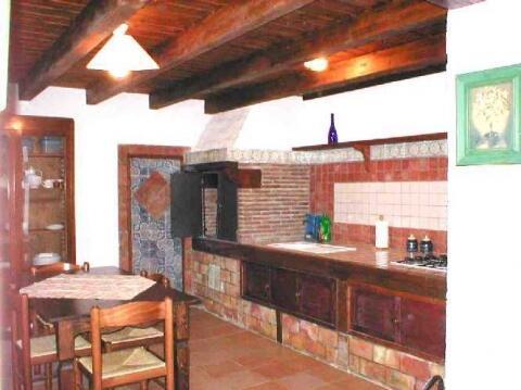 apt. Monika:kitchen with wood burning stove