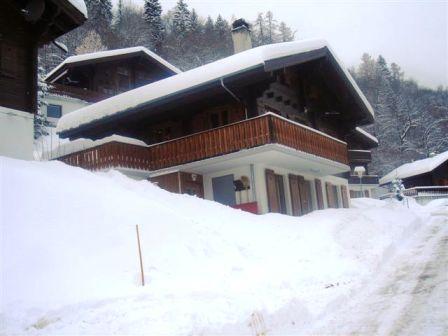 chalet in wintertime