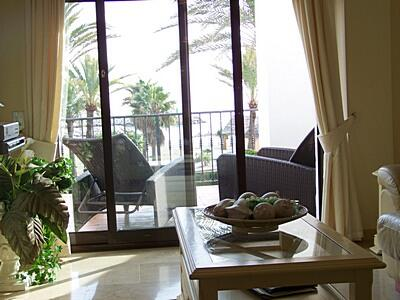 Living room to terrace view