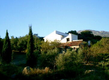 large restored farmhouse with secluded pool