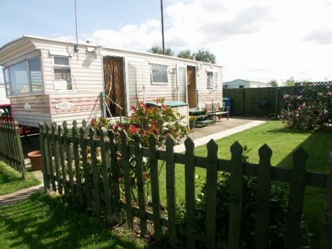 the caravan and garden