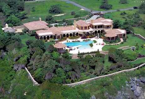 Aerial view of this magnificent luxury villa in Cabrera, Dominican Republic