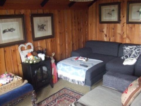 The lounge area in Die Kabine