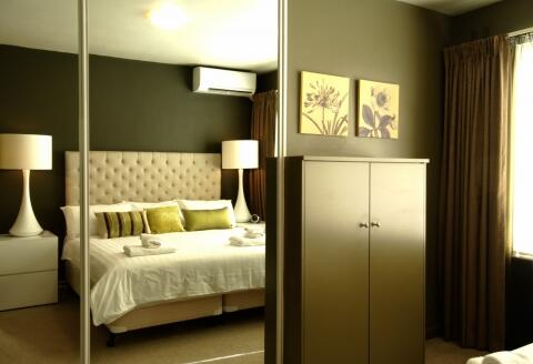 Stylish interior with king bed & air conditioning in each bedroom