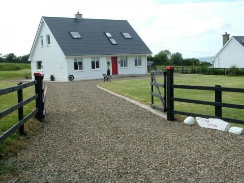 Littor cottage with large fenced garden