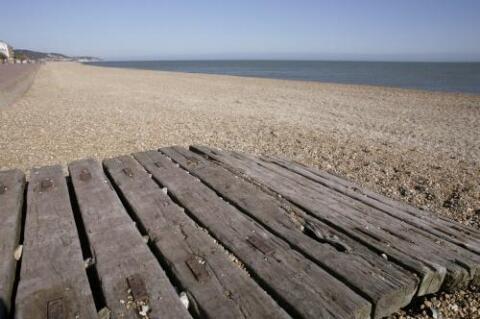 Hythe beach 500 metres walk