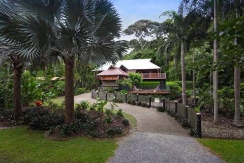 Luxuious Villa surrounded by lush green foliage