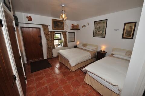 1st Bedroom in the Barn Cottage.  En-Suite Shower Room.