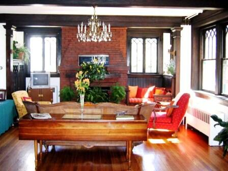 Open living room with