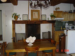 Property Photo: dining room and cheminey