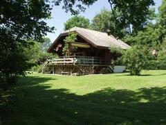 Property Photo: 4* chalet and its park at lake chalain