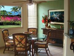Property Photo: Dining room with tropical ocean view