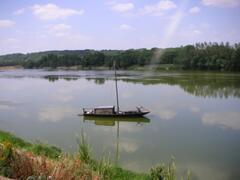 Traditional boat on the River Loire