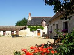 Les Mortiers - the first view of Les Mortiers at the end of the private drive and the start of a holiday.