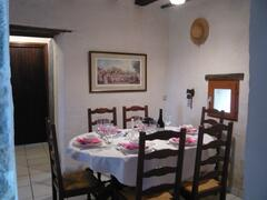The Grange Dining Room, with place setting for 6 and ample supply of crocker and cutlery.