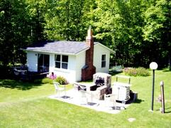 Property Photo: Cottage and communal fire pit