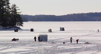 Ice Fishing on Rosseau