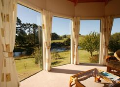 Property Photo: Cottage Bay Window facing Waitangi River.