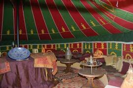 inside tent