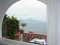 Property Photo: A terrace with sea view of 40 sq mt equipped with table and chairs