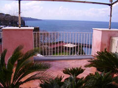 Property Photo: Private terrace with panoramic sea view