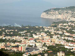 Sea view over the Gulf of Naples