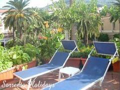Shared sun-terrace wiyh sun beds