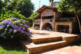 Wood-fired oven for pizzas
