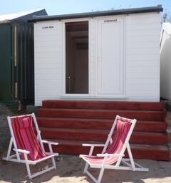 Beach hut available on Abersoch Beach