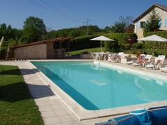Property Photo: La Vielle Grange from the pool and bar