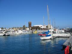 the harbour at caleta