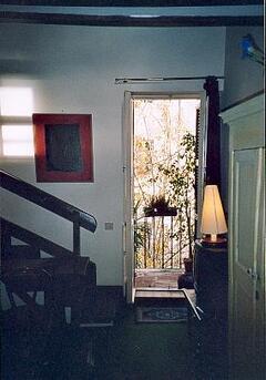 detail of living room - balcony