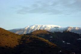 View to the Sierra Almijaras on a January day