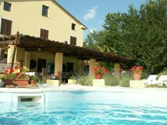 Property Photo: Villa Sibillini and pool