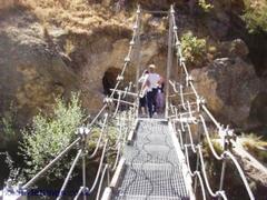 Suspension bridge in Castril