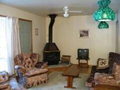 Each chalet has air conditioning and ceiling fans for the warm summer days
