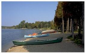 Canoes and peddleboats are just waiting for you.
