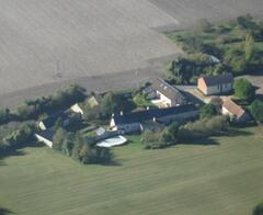 Property Photo: View of farm from above