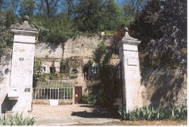 the gate of the property
