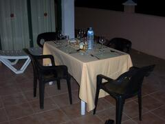 Outside Dining on Balcony