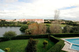Property Photo: view of pool and lagoon and garden from terrace